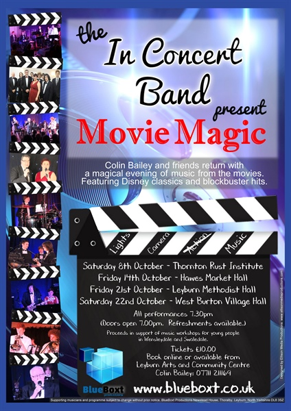 The In Concert Band with Colin Bailey present  'Movie Magic' at Thornton Rust