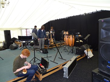 IN CONCERT AT THE DALES FESTIVAL OF FOOD AND DRINK - THE SET UP! (02.05.15)